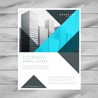 Saubere blaue broschüre design-vorlage