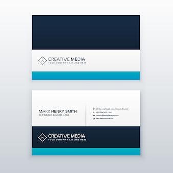 Saubere blaue professionelle visitenkarte design