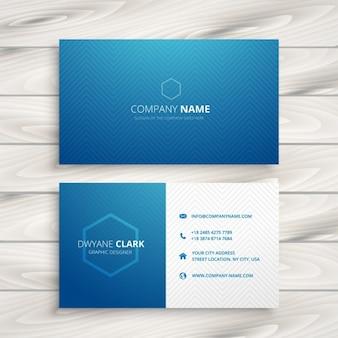 Saubere, einfache blaue visitenkarte