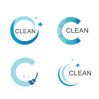 Saubere logo-design-vorlage