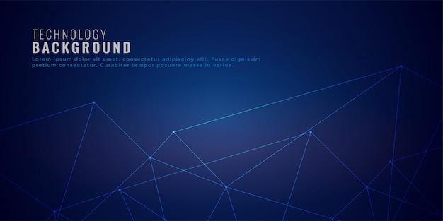 Saubere low-poly-netzwerk-linien technologie hintergrund