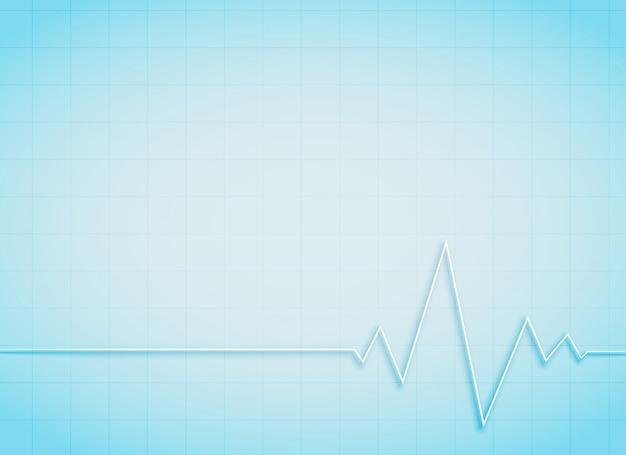 Saubere medizinische und gesundheitliche hintergrund mit herzschlag