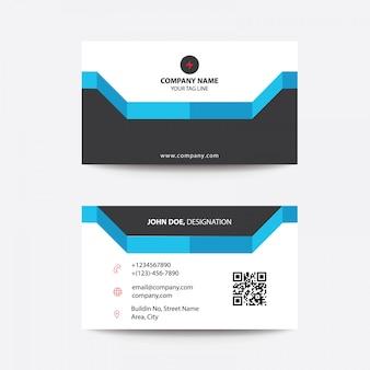 Saubere moderne flache korporative visitenkarte für freiberufler