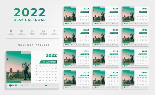 Saubere wandkalender-designvorlage