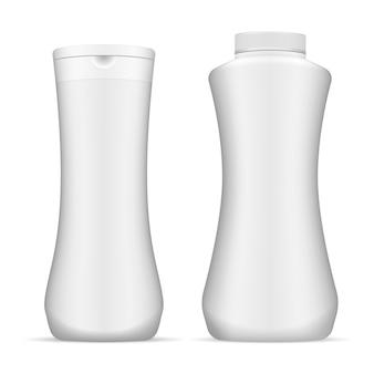 Saubere weiße kosmetikflasche
