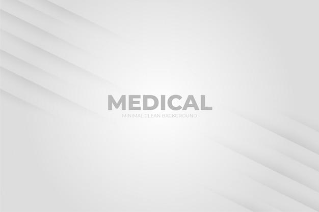 Sauberer hintergrund mit medizinischen formen