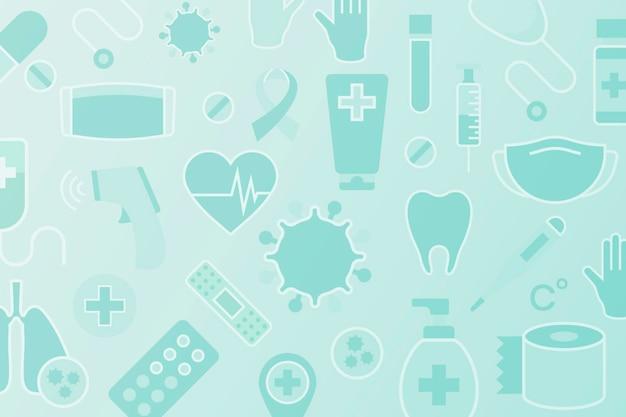 Sauberer medizinischer gemusterter hintergrund