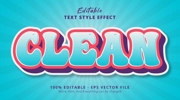Sauberer text auf ausgefallenem farbkombinations-texteffekt, bearbeitbarer texteffekt