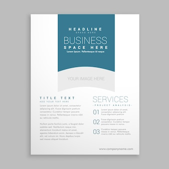 Sauberer weißer broschüre flyer design-vektor