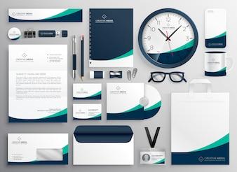 Sauberes Geschäftsbriefpapier für Ihre Marke