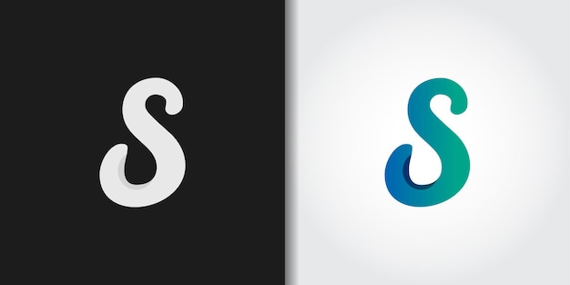 Sauberes handgezeichnetes initialen-s-logo