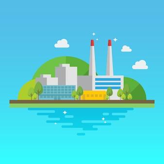 Sauberes industriegebäude