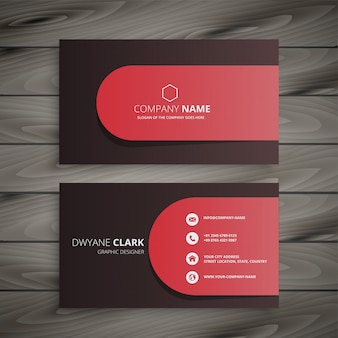 Sauberes professionelles visitenkarten-design