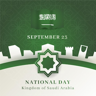 Saudi nationalfeiertag illustration