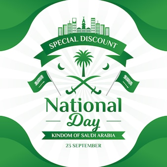 Saudi-nationalfeiertag mit flaggen