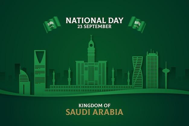 Saudi-nationalfeiertagskonzept