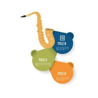 Saxophon musik sound infografik