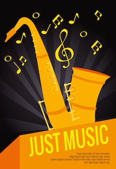 Saxophon musikinstrument label