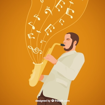 Saxophonist hintergrund