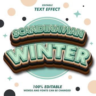 Scandinavian winter text effekte