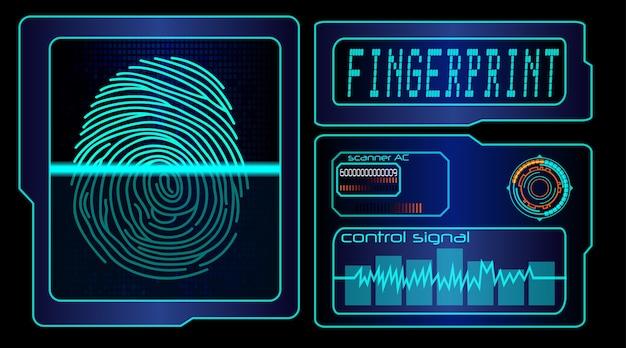 Scannen des menschlichen fingerabdrucktechnologiehintergrundes