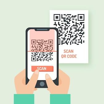 Scannen des qr-codes des smartphones