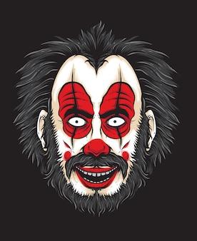 Scary clowngesicht