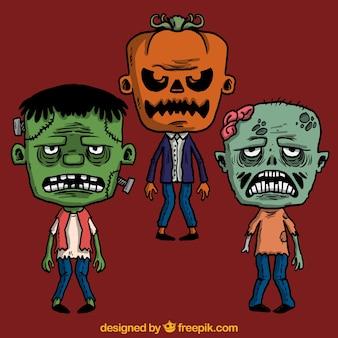 Scary halloween monster