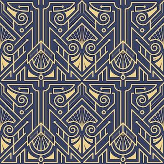Schablone abstraktes art deco blau cs6