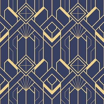 Schablone abstraktes art deco blau