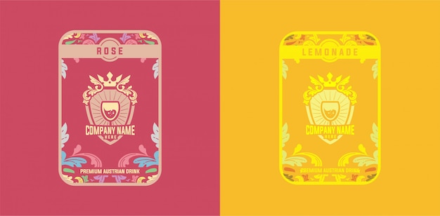 Schablonen-aufkleber-getränk-rosen-limonaden-weinlese bunt