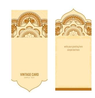 Schablonenkarte mit abstraktem hintergrund, vektordesign