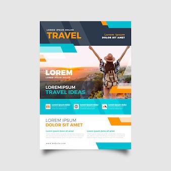 Schablonenthema für reisendes plakat