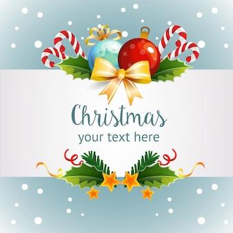 Schablonenweihnachten mit hellem dekorationsthema