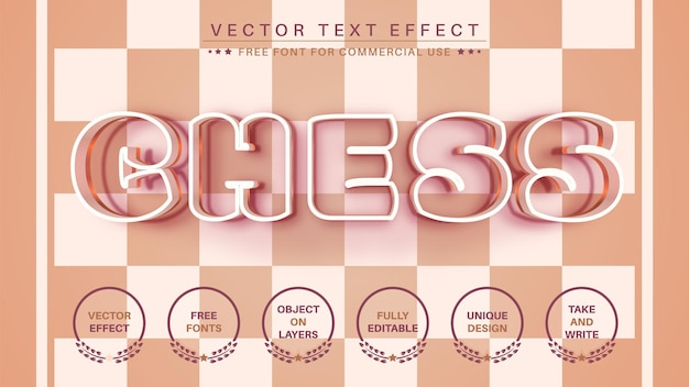 Schach bearbeiten texteffekt editierbarer schriftstil