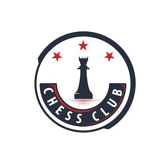 Schach-logo-design-vorlage