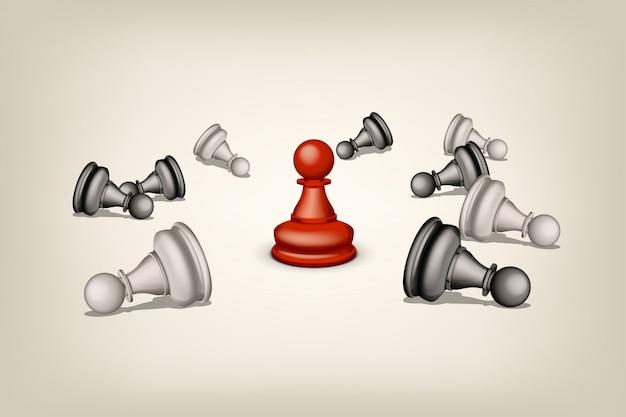 Schach mit rot