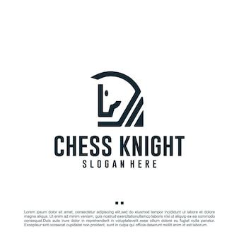 Schach-ritter, logo-design-inspiration