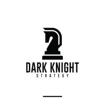 Schach-ritter, pferd, logo-design-inspiration