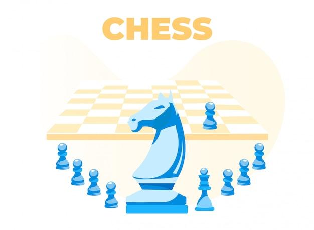 Schachbanner mit brett