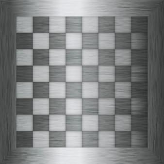 Schachbrett metall