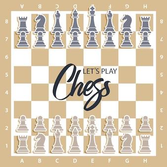 Schachbrett mit zahlen