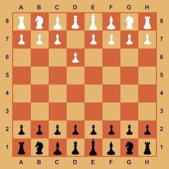 Schachfiguren auf dem brett