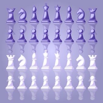 Schachfiguren hintergrund illustration design