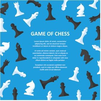 Schachfiguren plakat mit exemplar