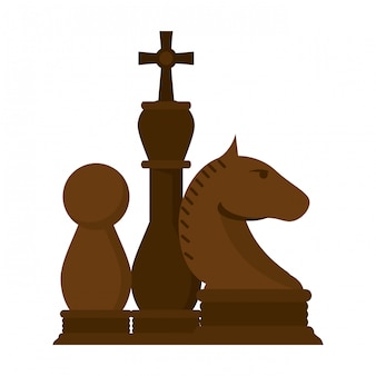 Schachfiguren spiel cartoon
