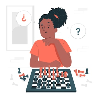 Schachkonzeptillustration