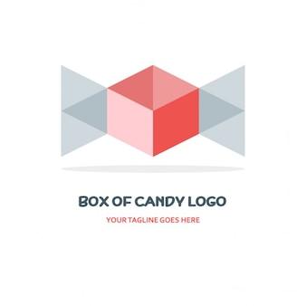 Schachtel mit süßigkeiten logo