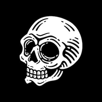 Schädel auf dunklem hintergrund