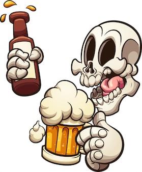 Schädel bier
